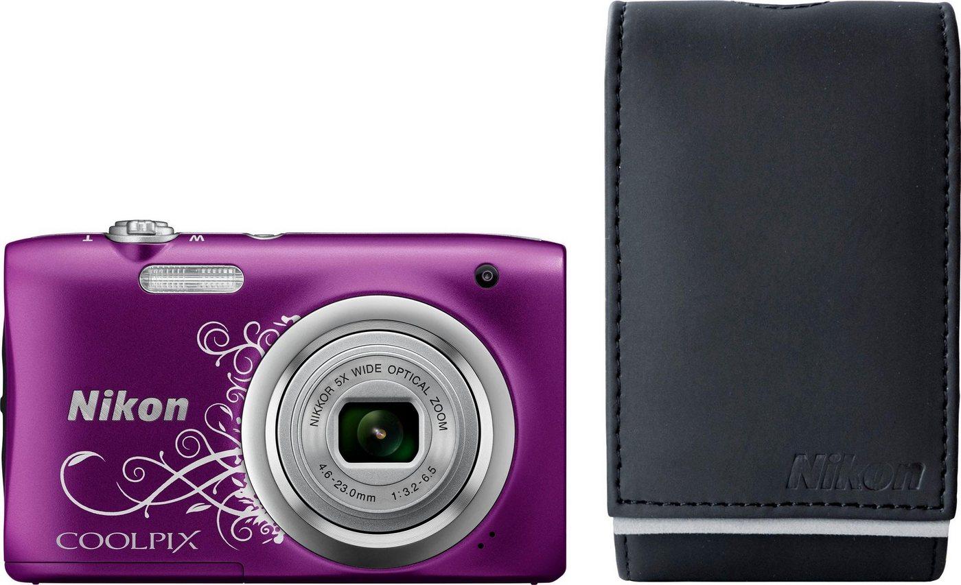 Digitalkameras - Nikon »Coolpix A100« Kompaktkamera (NIKKOR Objektiv mit optischem 5 fach Zoom, 20,1 MP, Tasche 10€ Fotogutschein)  - Onlineshop OTTO