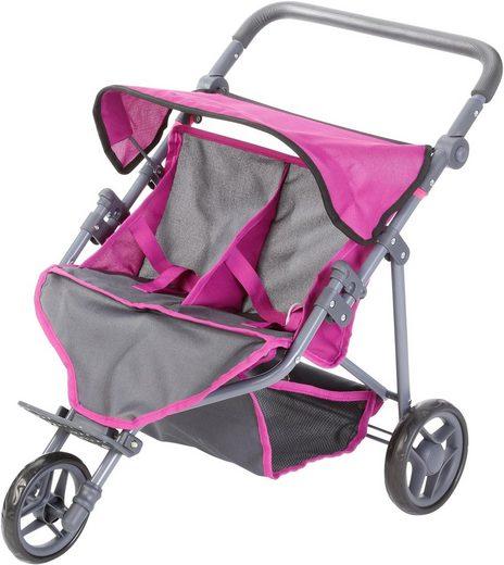 Knorrtoys® Puppenwagen »Duo - Tec Purple«, für Zwillinge