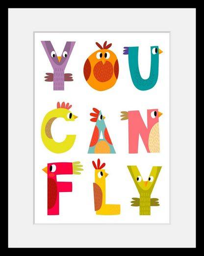 Bild mit Rahmen »You can fly« 30/2,4/40 cm