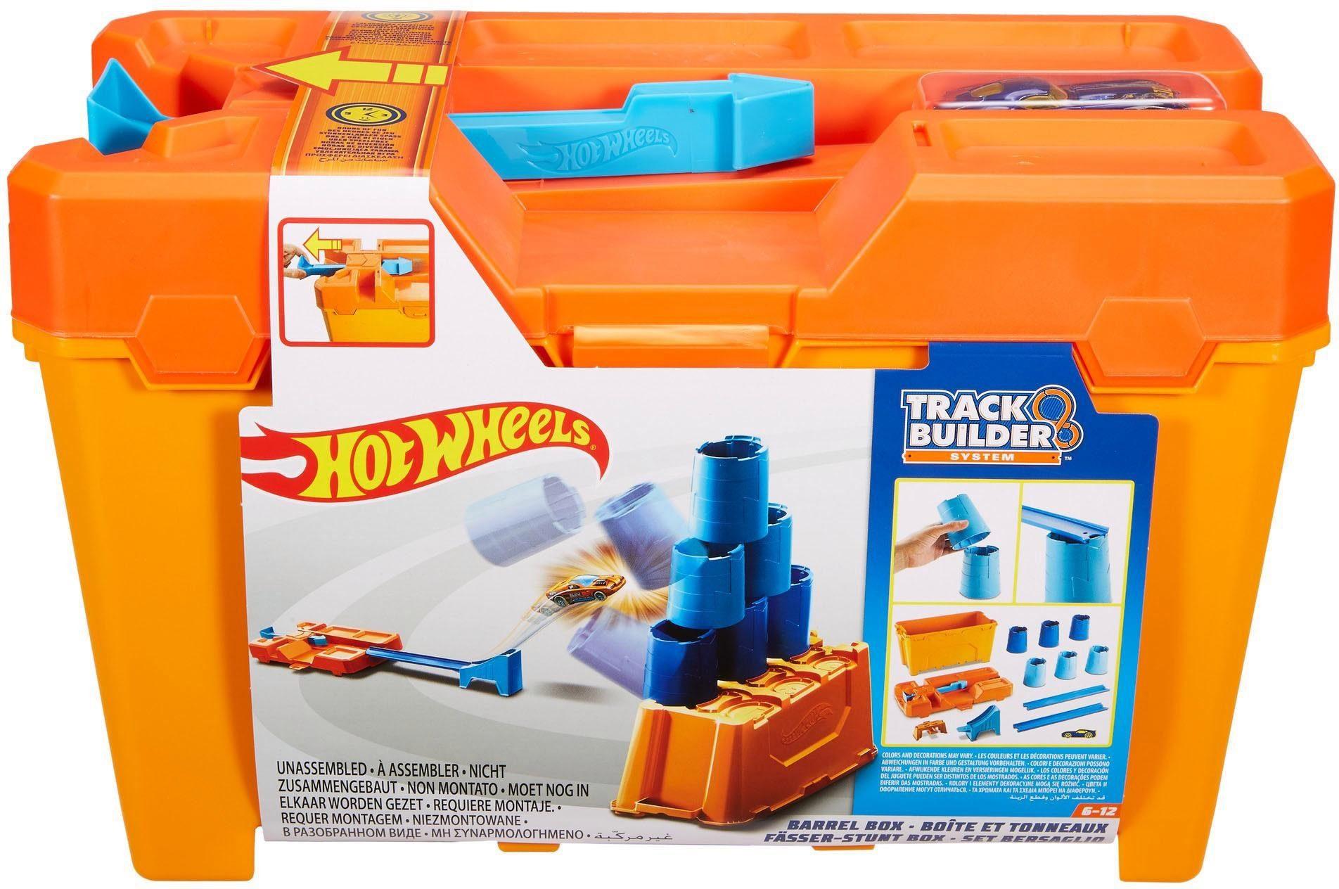 Hot Wheels Spielset, »Track Builder Fässer-Stunt-Box«