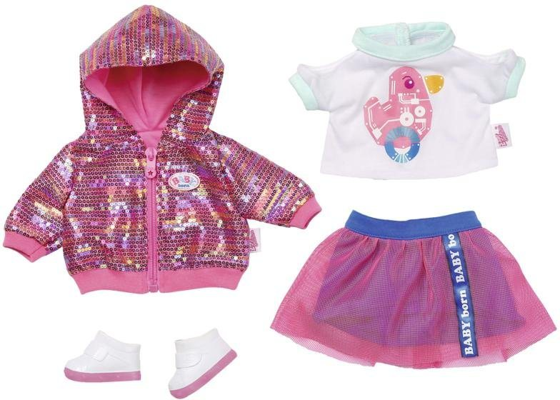 Zapf Creation Baby Born City Deluxe Style Outfit Puppenkleidung Mit Pailettendruck Online Kaufen Otto