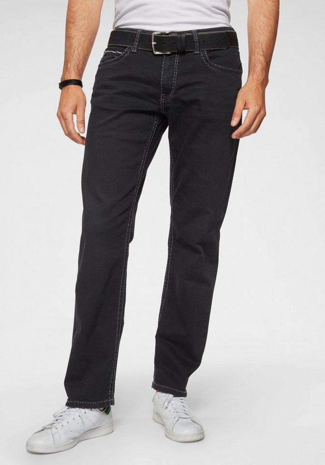 CAMP DAVID Loose-fit-Jeans »CO:NO:C622« mit markanten Nähten | Bekleidung > Jeans > Loose Fit Jeans | Schwarz | Jeans | CAMP DAVID