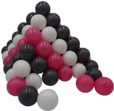 Knorrtoys® Bällebad-Bälle »100 Stück, creme/grey/rose«
