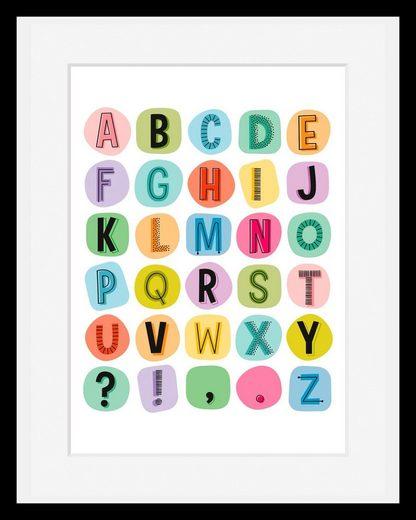 Home affaire Bild »Buchstaben«, mit Rahmen