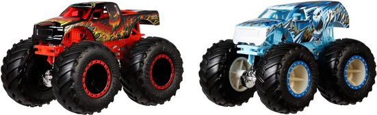 Hot Wheels Spielzeug-Monstertruck »Die-Cast Scorcher vs 32 Degrees«, (Set, 2-tlg)