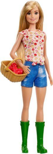 Mattel® Anziehpuppe »Barbie, Spaß auf dem Bauernhof Puppe« (Inklusive Korb mit Äpfeln)