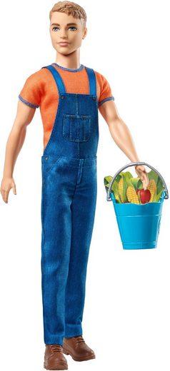 Mattel® Anziehpuppe »Barbie, Spaß auf dem Bauernhof Ken« (Inklusive Eimer mit Äpfeln und Mais)