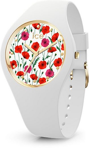 ice-watch Quarzuhr »ICE flower - White poppy - Small - 3H, 16657«