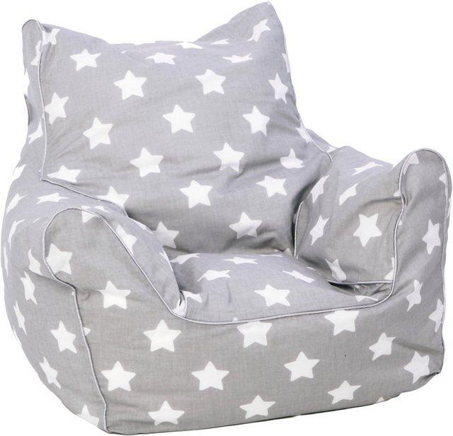 Sitzmöbel - Knorrtoys® Sitzsack »Grey White Stars«, für Kinder  - Onlineshop OTTO