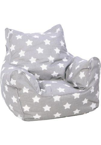 KNORRTOYS ® sėdmaišis »Grey White Stars«