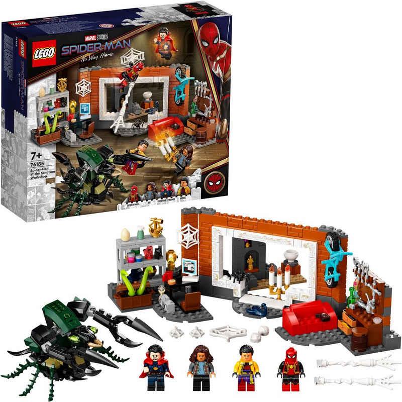 LEGO® Konstruktionsspielsteine »Spider-Man in der Sanctum Werkstatt (76185), LEGO® Marvel Super Heroes«, (355 St), Made in Europe