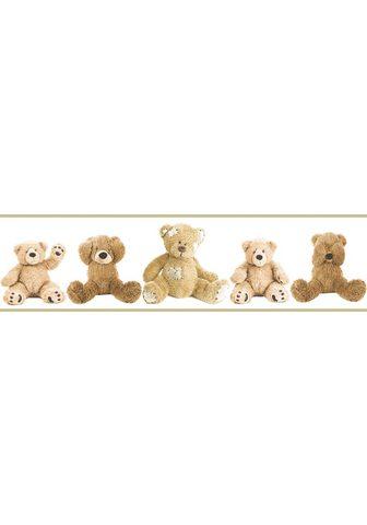ART FOR THE HOME Sieninių tapetų juosta »Teddy Bären« s...