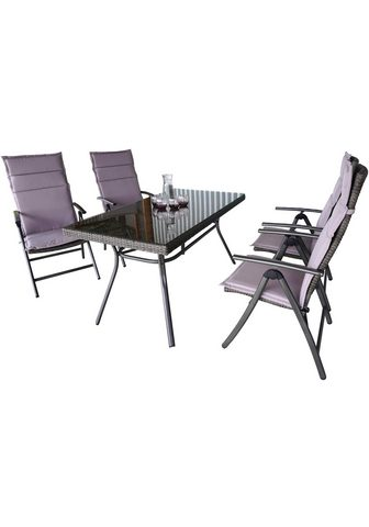 MERXX Balkono baldai »Pavia« 9-tlg. 4 Foteli...