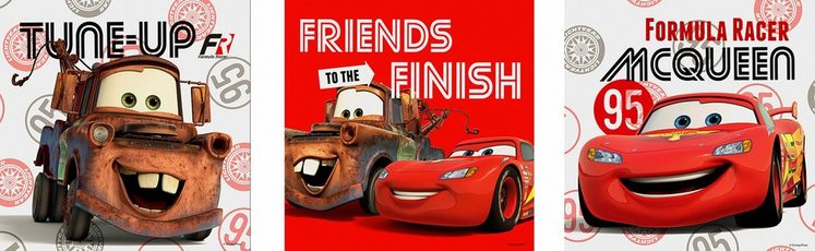 Set: Leinwand »CARS FRIENDS«, Disney, 3-er Set