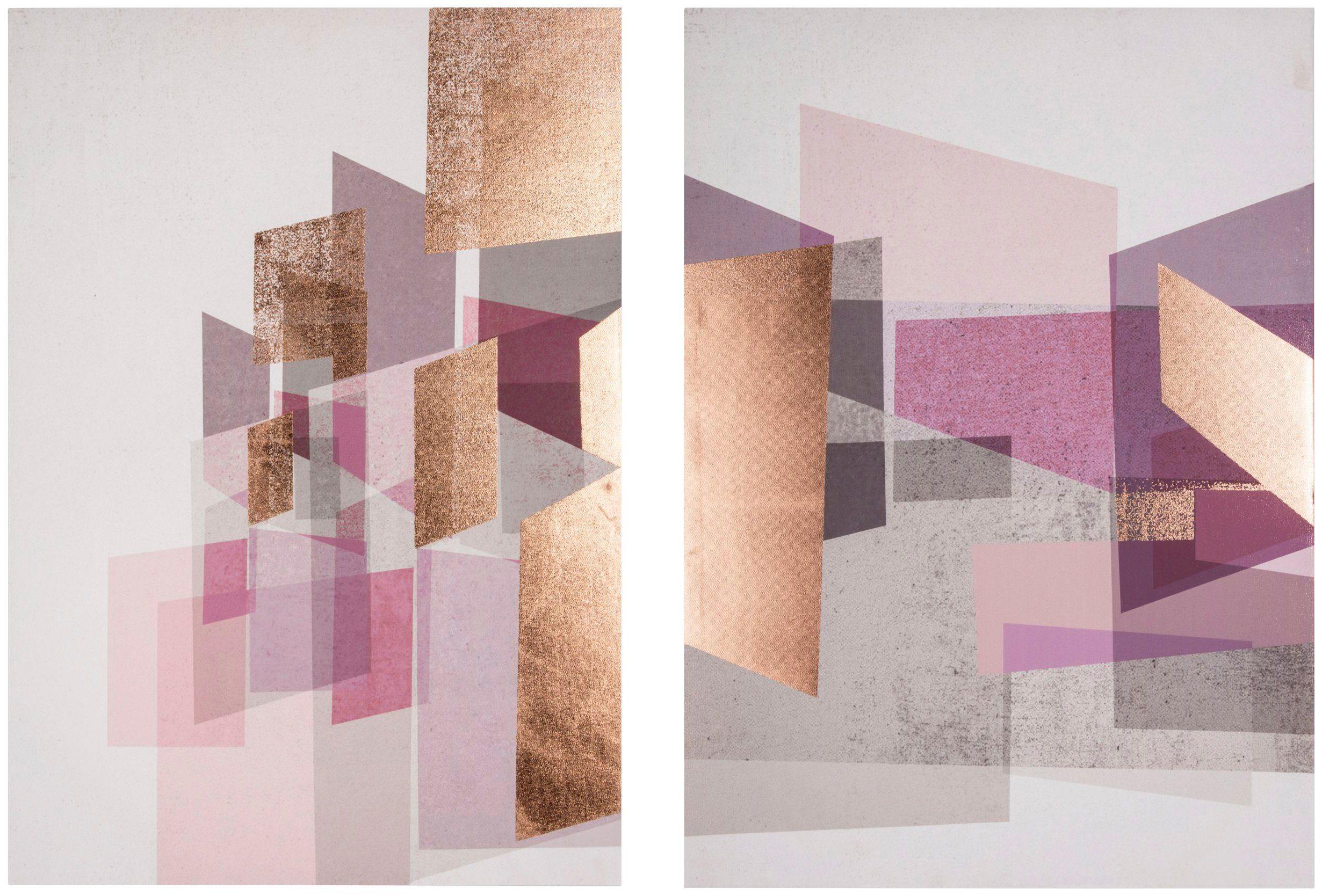 GRAHAM & BROWN Leinwand »Rose Gold Geos«
