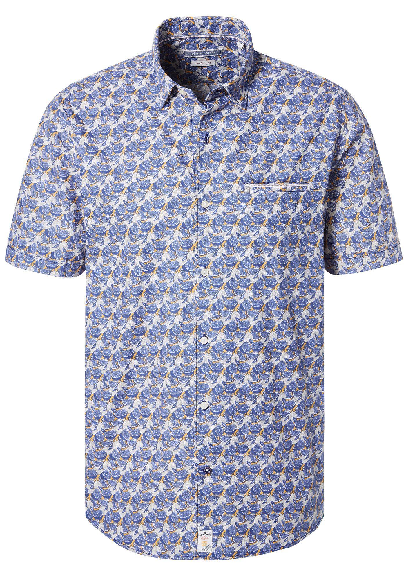 PIERRE CARDIN Hemd mit Zitrus-Print - Modern Fit