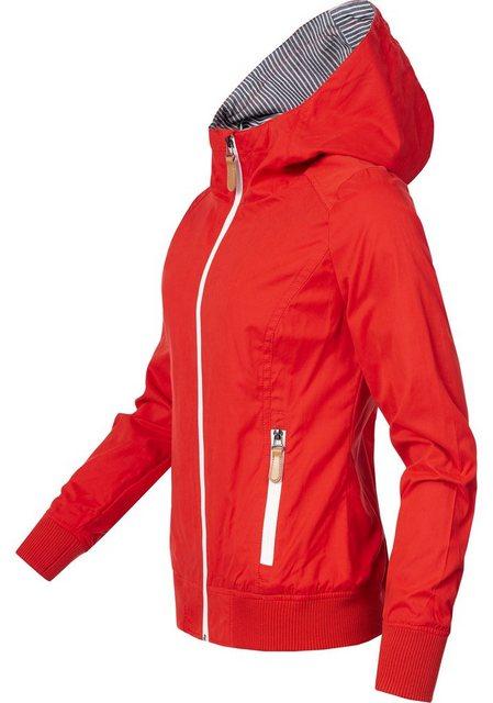 PEAK TIME Blousonjacke »L60019« leichte Übergangsjacke mit Kapuze | Bekleidung > Jacken > Blousonjacken | PEAK TIME