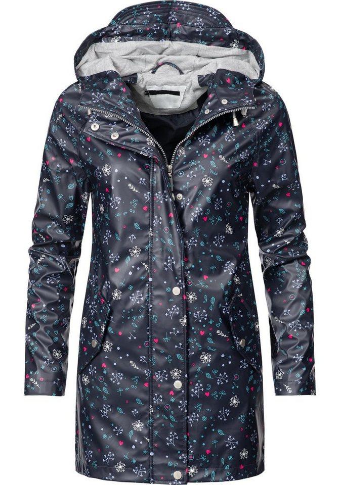 PEAK TIME Regenjacke »L60017« stylische Allwetter Jacke mit Kapuze | Sportbekleidung > Sportjacken > Regenjacken | Blau | PEAK TIME
