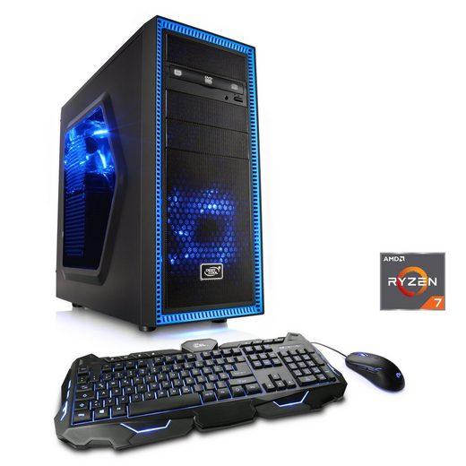 CSL Gaming PC, Ryzen 7 2700X, RTX 2080, 32 GB DDR4, 240 GB SSD »Sprint T8369 Windows 10 Home«