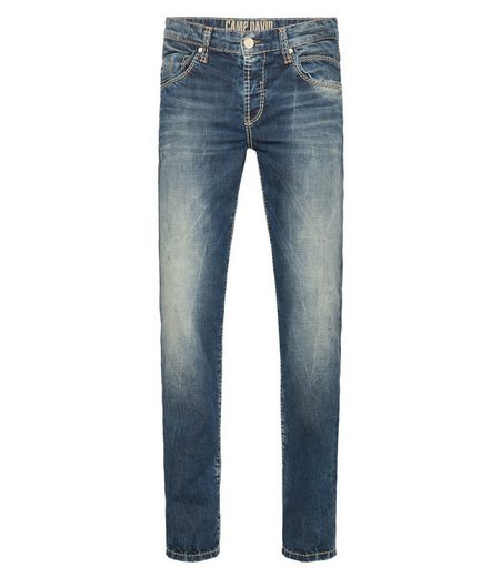 CAMP DAVID Slim-fit-Jeans mit Washed-Out-Effekten