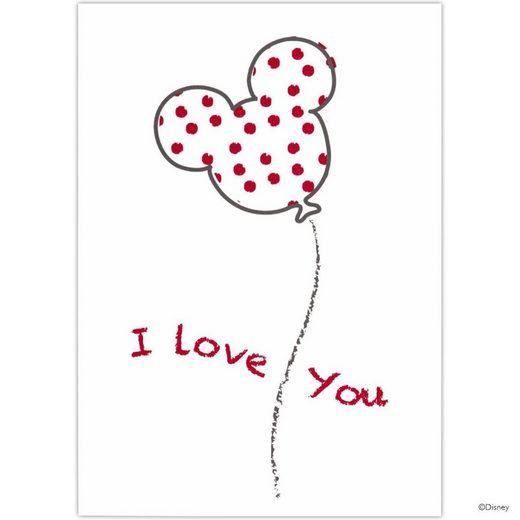 BUTLERS CARD »Postkarte Mickey Luftballon/I love..«