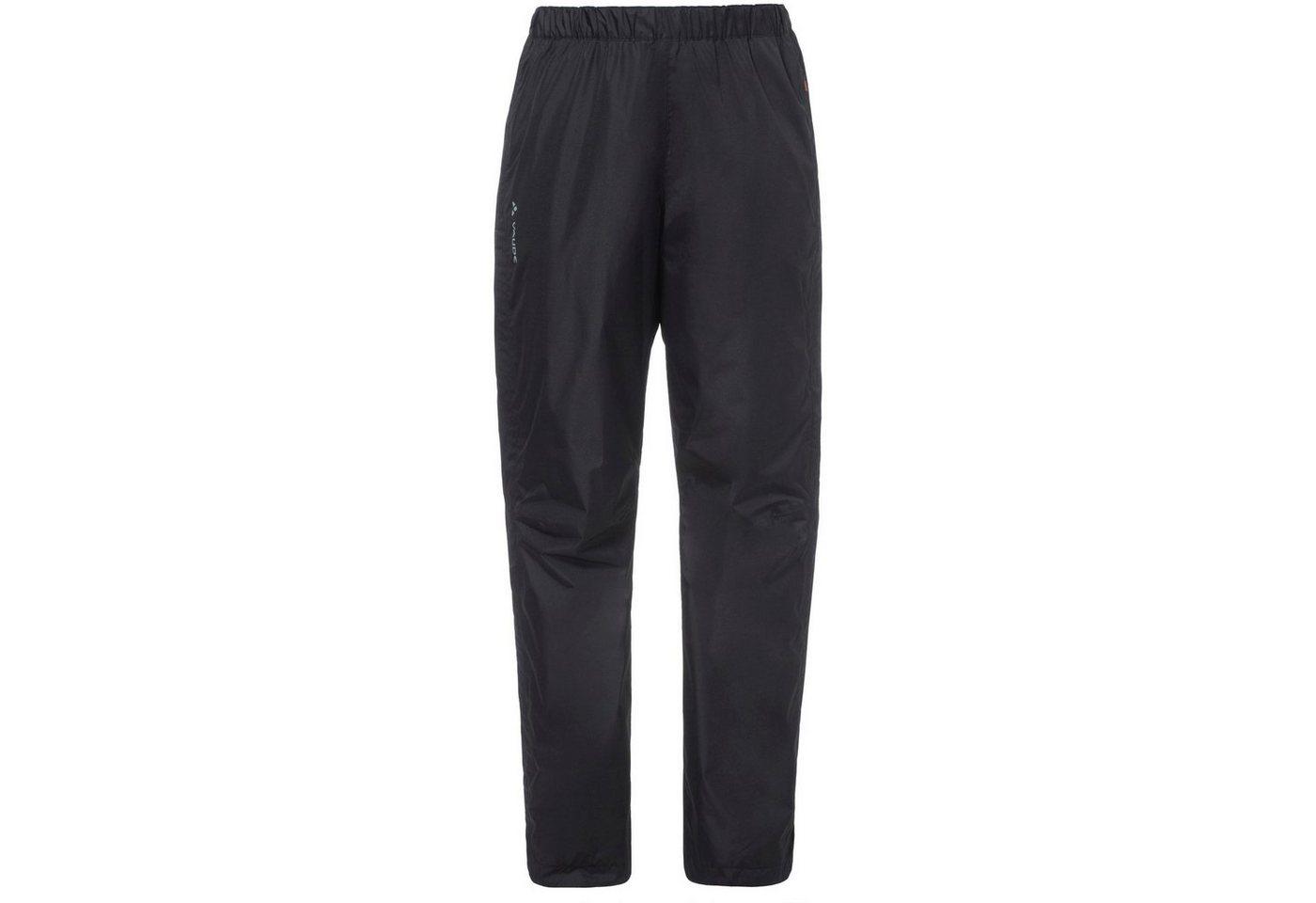 VAUDE Regenhose »Fluid Full-Zip« | Sportbekleidung > Sporthosen > Regenhosen | Schwarz | Polyester - Polyamid - Polyurethan | VAUDE
