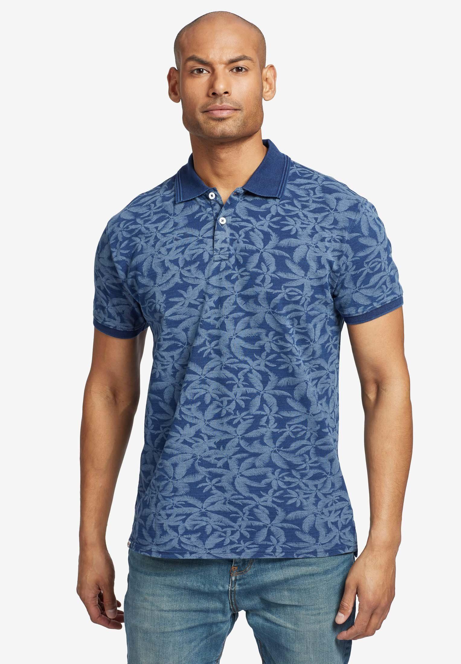 khujo Poloshirt »OCTAVE AOP« mit Palmen-Print