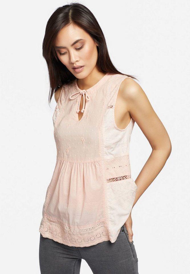 khujo Spitzentop »SUSKA« aus leichter Baumwolle mit Stickerei   Bekleidung > Tops > Spitzentops   Orange   Baumwolle   khujo