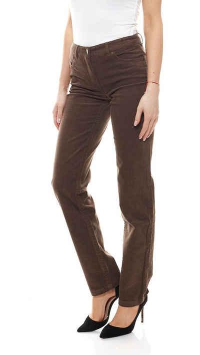Aniston by BAUR Cordhose »Aniston Business-Hose klassische Cord-Hose für Frauen im Five-Pocket-Stil Stoff-Hose Taupe«