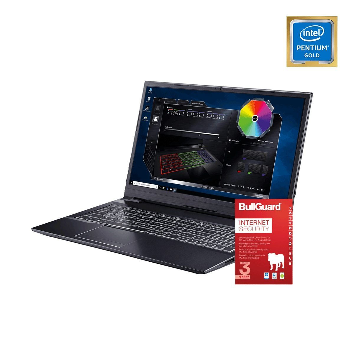 ONE GAMING Notebook, Pentium Gold G5500, GeForce GTX 1050 Ti, 16GB »NB 44976«