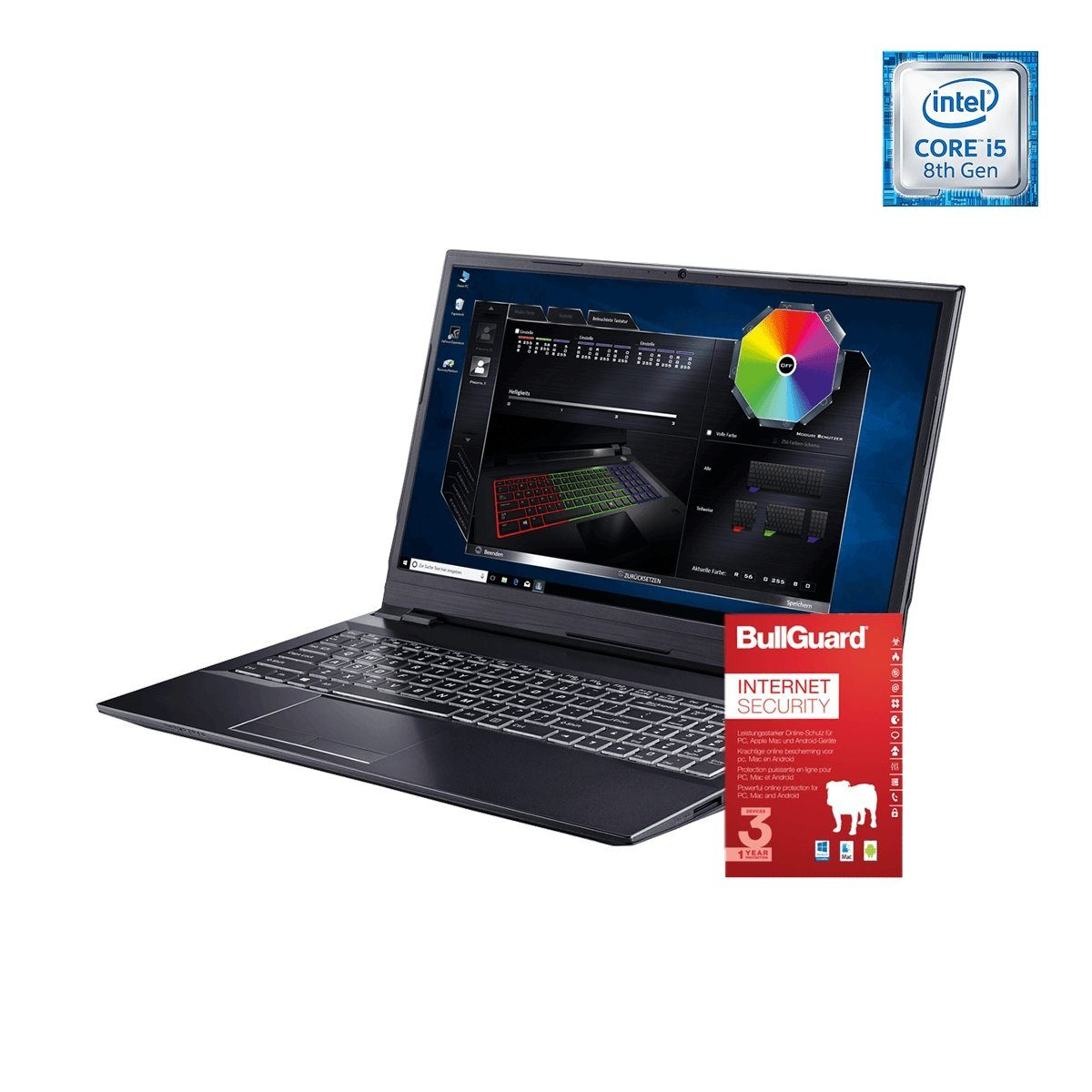 ONE GAMING Notebook, Core i5-8400, GeForce GTX 1050 Ti, 8GB »NB 44987«