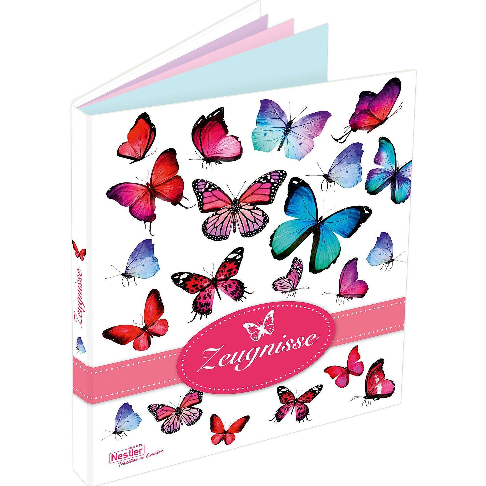 Nestler Zeugnismappe Schmetterling