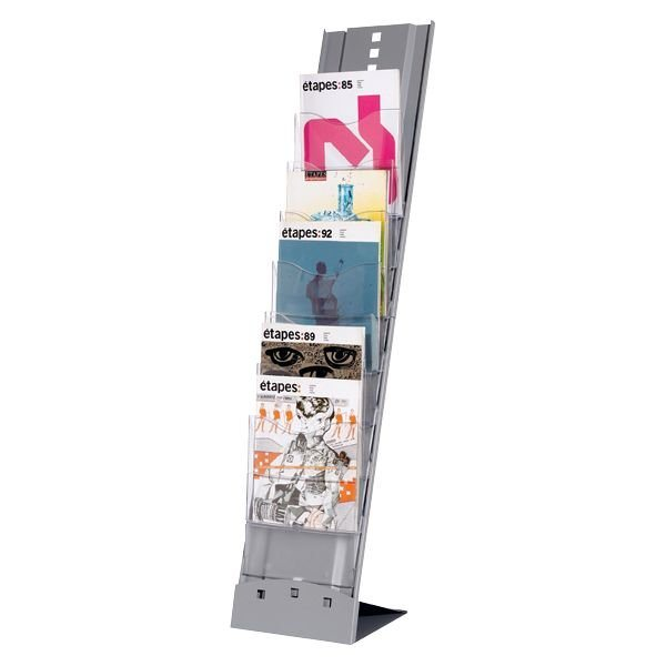 Paperflow Prospektständer »Alu« in silber