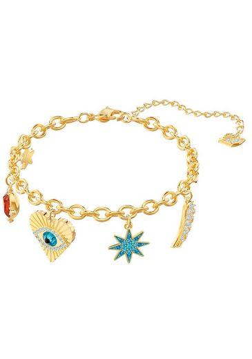 Swarovski Armband »Lucky Goddess, mehrfarbig, vergoldet, 5461796« mit Swarovski® Kristallen
