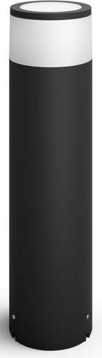 Philips Hue LED Außen-Tischleuchte »Calla«, Sockelleuchte, Leuchte inkl. LEDs fest integriert, T-Verbindungsstück, Erdspieß, Verlängerungskabel