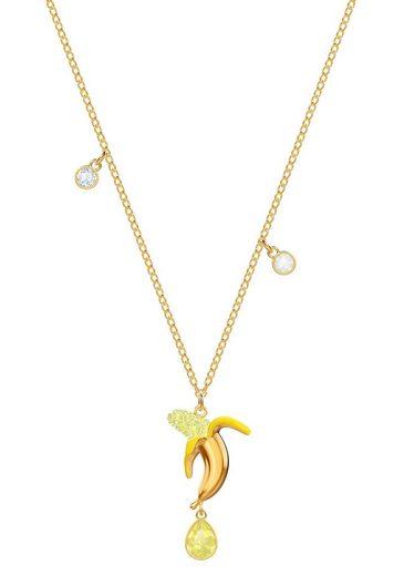 Swarovski Kette mit Anhänger »No Regrets Banana, mehrfarbig, vergoldet, 5457504« mit Swarovski® Kristallen