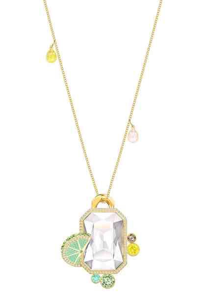 Swarovski Kette mit Anhänger »No Regrets, mehrfarbig, vergoldet, 5480241« mit Swarovski® Kristallen