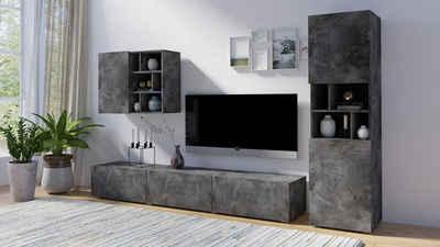 Wohnwand In Grau Online Kaufen Otto