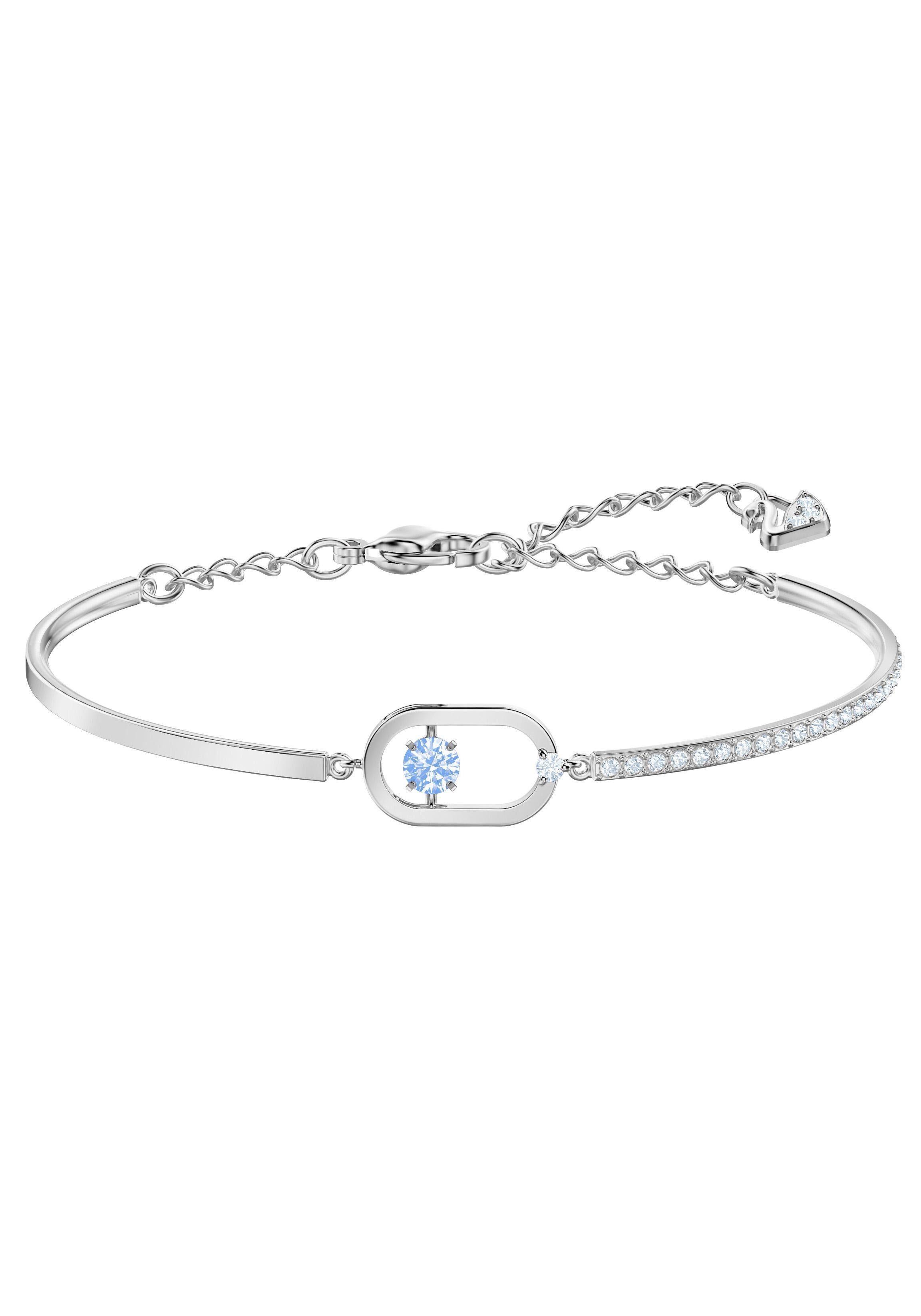 Swarovski Armreif »North, blau, rhodiniert, 5479120« mit Swarovski® Kristallen