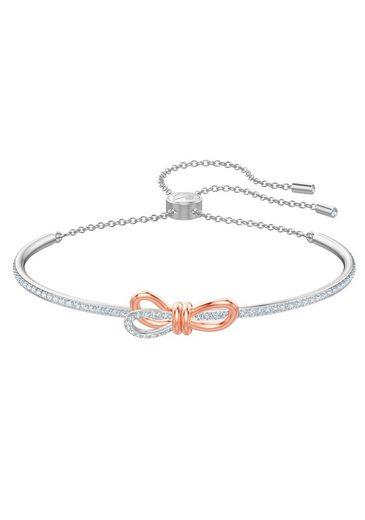 Swarovski Armband »Lifelong Bow, weiss, Metallmix, 5447079«, mit Swarovski® Kristallen