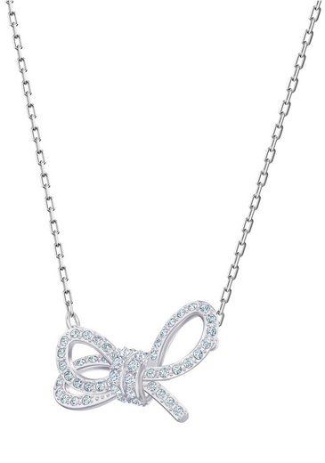 Swarovski Kette mit Anhänger »Lifelong Bow weiss rhodiniert 5440643« mit Swarovski® Kristallen
