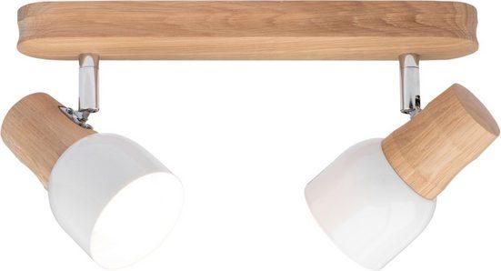 SPOT Light Deckenleuchte »SVANTJE«  Naturprodukt aus Massivholz  Nachhaltig mit FSC®-Zertifikat  Mit flexiblem Spotkopf  Schirm aus Metall  Made in EU