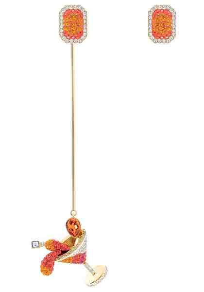 Swarovski Paar Ohrstecker »No Regrets Cocktail, mehrfarbig, vergoldet, 5457499« mit abnehmbarem Einhänger und Swarovski® Kristallen