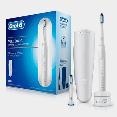 Oral B Schallzahnbürste Pulsonic Slim One 2200, Aufsteckbürsten: 2 St.