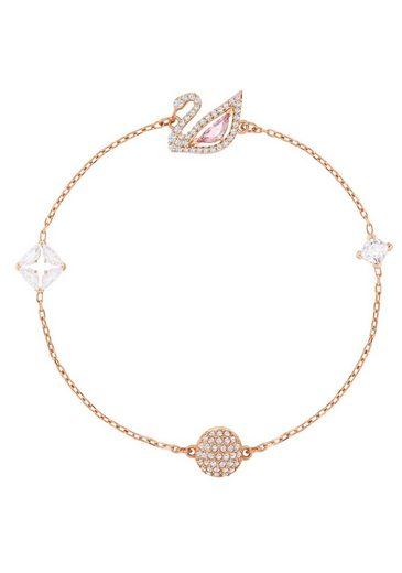 Swarovski Armband »Dazzling Swan, mehrfarbig, rosé Vergoldung, 5485876, 5485877, 5472271« mit Swarovski® Kristallen