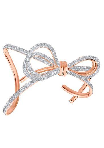 Swarovski Armspange »Lifelong Bow, weiss, Metallmix, 5474925, 5447088«, mit Swarovski® Kristallen