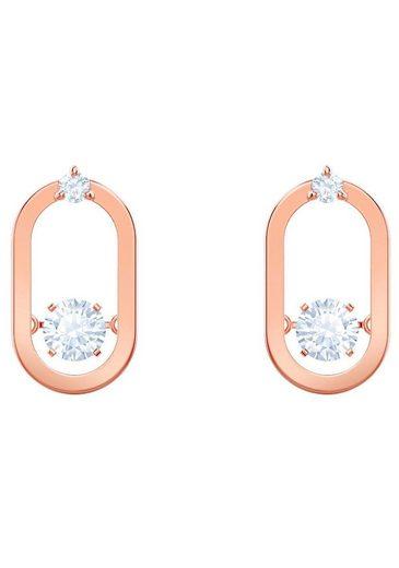 Swarovski Paar Ohrstecker »North, Weiss, Rosé Vergoldung, 5468118« Mit Swarovski® Kristallen by Swarovski