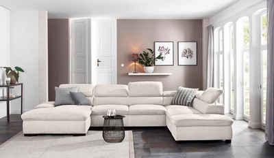Home affaire Wohnlandschaft »Alberto«, XL, inklusive Kopfteilverstellung