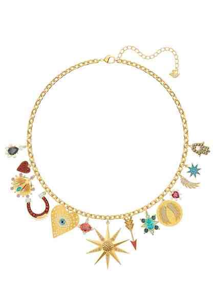 Swarovski Kette mit Anhänger »Lucky Goddess, mehrfarbig, vergoldet, 5451263« mit Swarovski® Kristallen