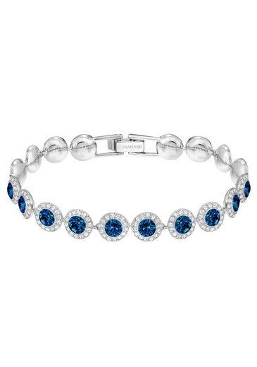 Swarovski Armband »Angelic, blau, rhodiniert, 5480484«, mit Swarovski® Kristallen